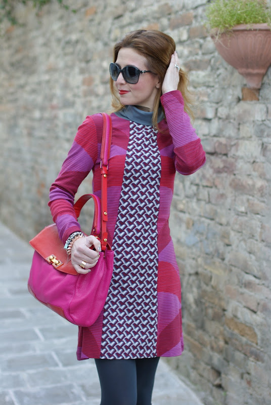 Custo fantasy print dress, fuchsia and red, Fashion and Cookies