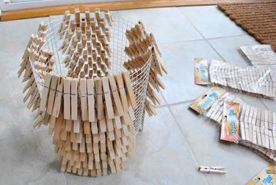 Recicla Inventa Tutorial lámpara pinzas de la ropa