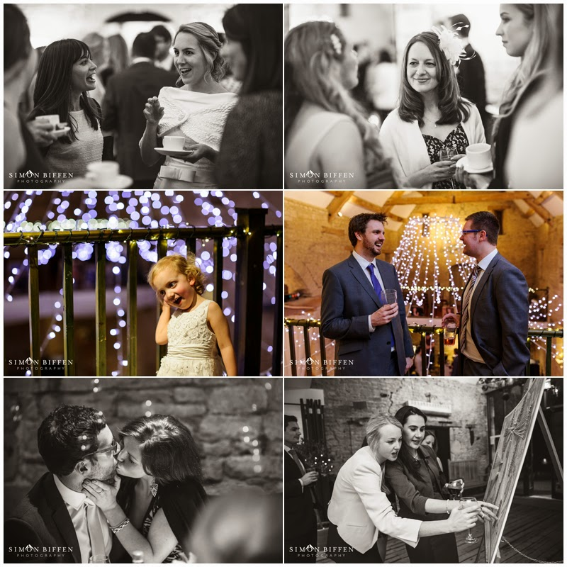 Wedding reception party photography Great Tythe Barn