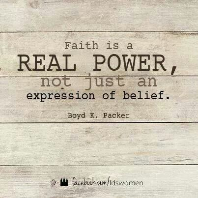 Faith is a Real Power