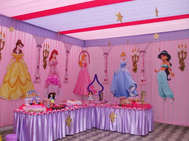 Como decorar una fiesta infantil con globos de princesas - Decoracion cumpleanos princesas ...