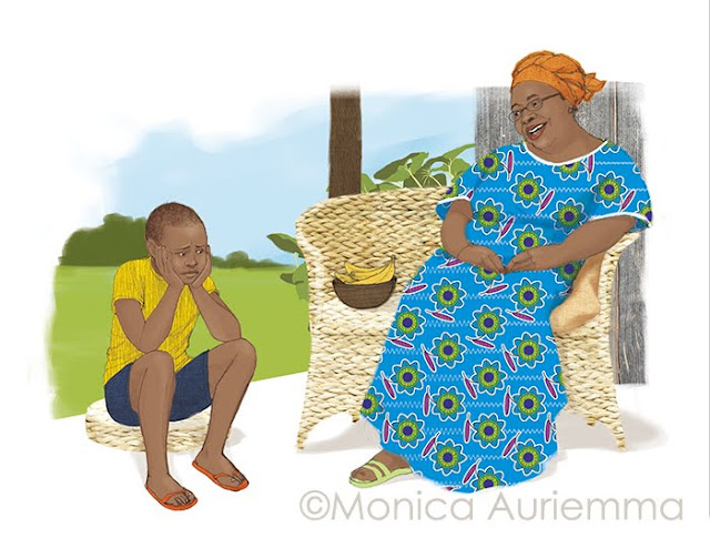 Nonna-Bambino-Africa-illustration