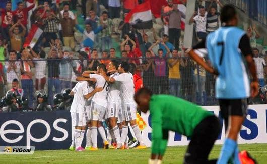 اهداف مباراة مصر وبوتسوانا 2-0