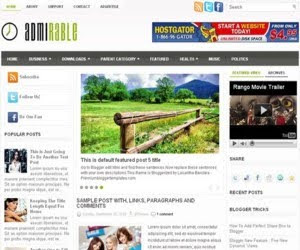 Admirable Blogger Template