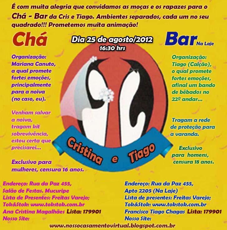 Well-known Nosso Casamento: Cris e Tiago: Chá - Bar AM48