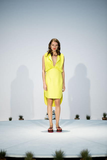 Nino Bollag SS13 Yellow Dress