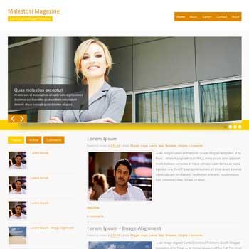 Malestosi Magazine blogger template. free blogspot template magazine style