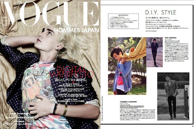 Matéria na Vogue Hommes Japan