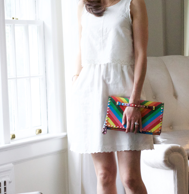 Dress, Valentino Rockstud Clutch