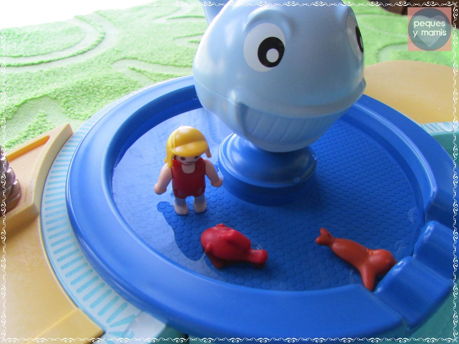 Pequesymamis piscina con fuente ballena - Playmobil piscina ballena ...
