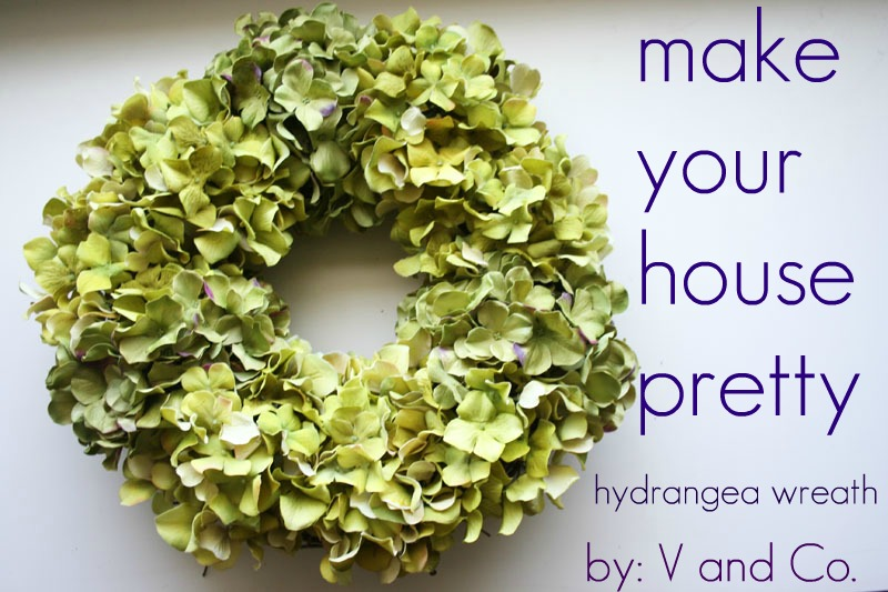 Awesome V And Co: How To: Hydrangea Wreath