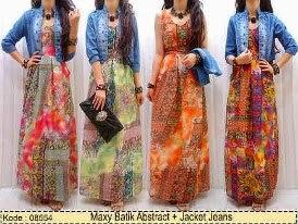 Foto Baju Batik Maxi Dress