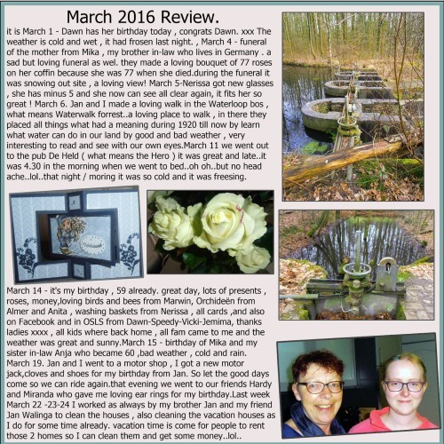 April ( March) 2016 page 1 -  My review