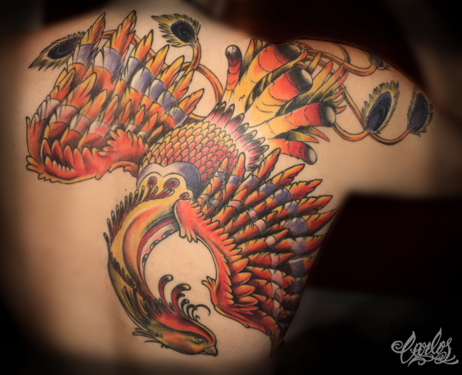 Carlos Art Studio: Ave Fenix tattoo