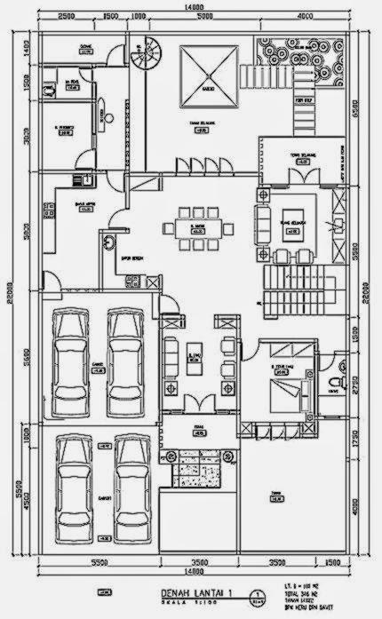 denah rumah minimalis 1 lantai  Cara Mendesain Rumah