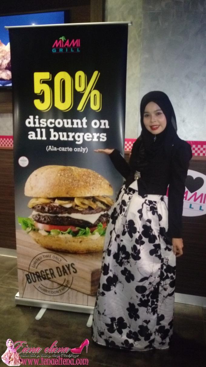 burger separuh harga Miami Grill Malaysia