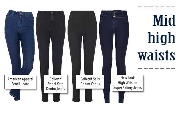 The best mid high waist jeans for pin-up and vintage style