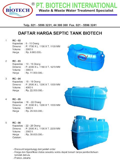 biofil, biotek, daftar harga septic tank biotech, ipal, sepiteng, sevtik teng, stp, toilet portable fibreglass, price list