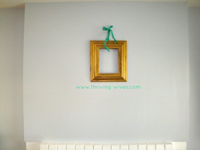 vintage hanging frame decoration