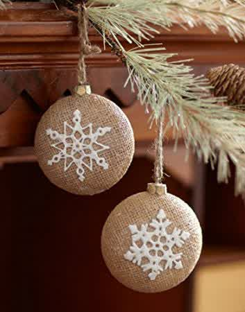 burlap and lace christmas decorations