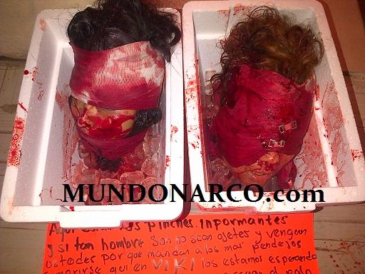 ... en cdvictoria tamaulipas hoy 15 de mayo dejaron 2 cabezas humanas en