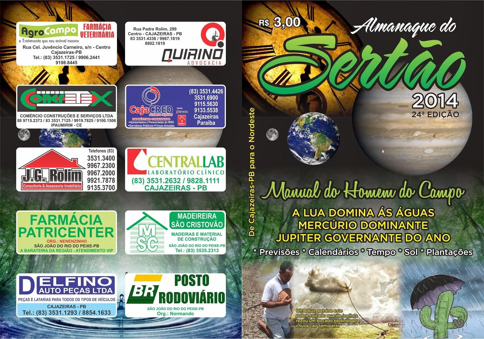 LANÇAMENTO DO ALMANAQUE DO SERTÃO ANO  2014