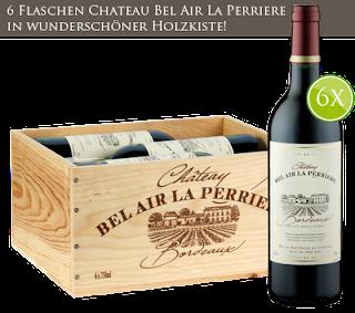 """6er Bordeaux Holzkiste """"Chateau Bel Air"""""""