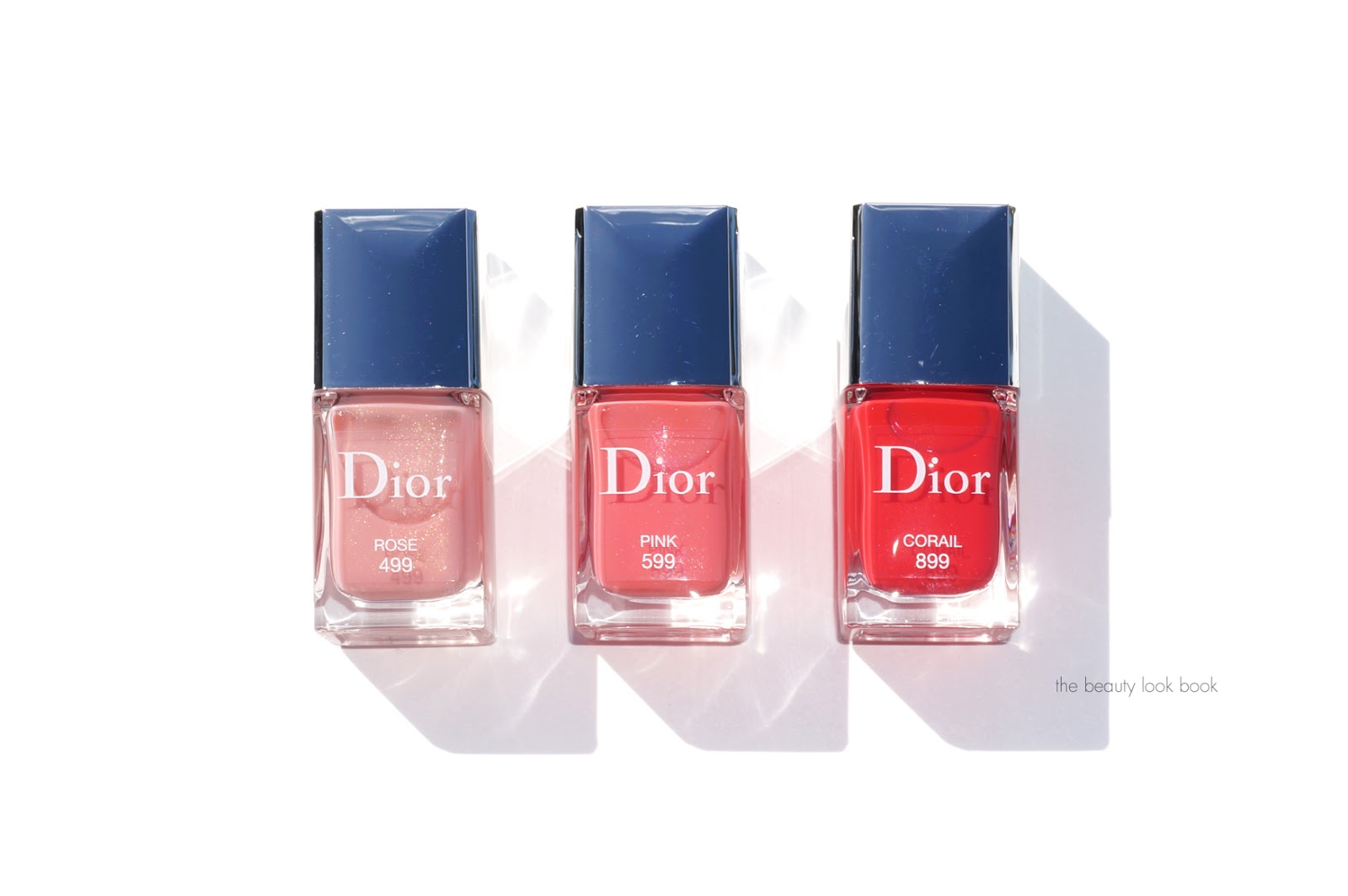Dior Vernis in Rose 499, Pink 599 and Corail 899   The Beauty Look Book
