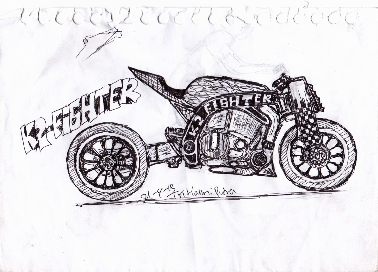 motorcycle sketch  april 2013