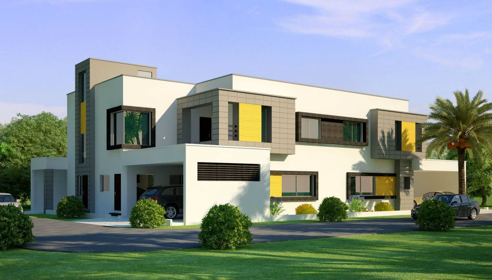 3d front beautiful home house in pakistan for Beautiful houses in india