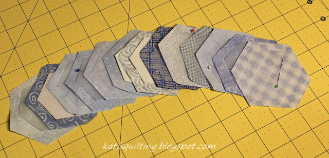 How to make quilted hexagons