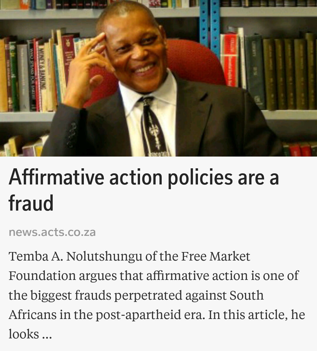 affirmative action is one of the biggest frauds perpetrated affirmative action is one of the biggest frauds perpetrated against white south africans in the post apartheid era