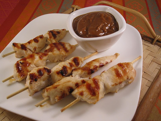 how to make satay chicken with peanut butter