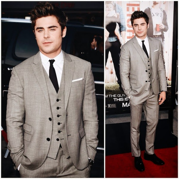 Zac Efron in Neil Barrett and Montblanc - 'Neighbors' Premiere, Los Angeles