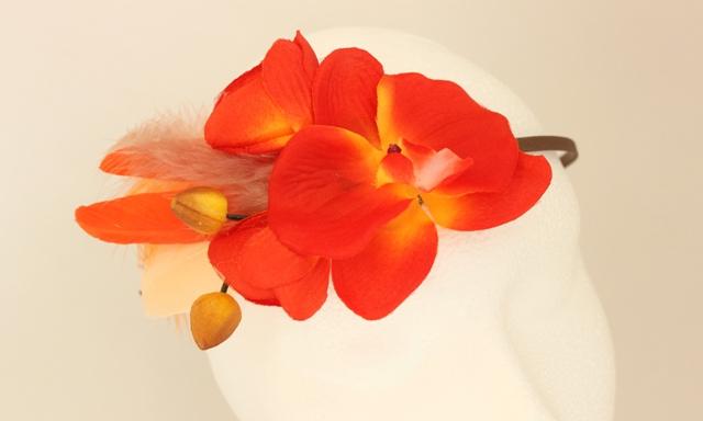 Colección Orquídea - Tiara naranja