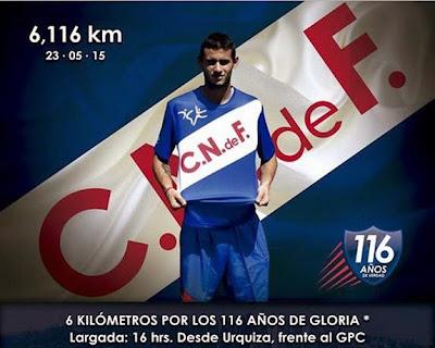 6.116 mts del Club Nacional de Fútbol (30/may/2015)