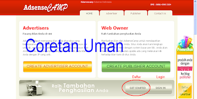 Cara daftar adsense blog indonesia adsensecamp.com dengan gambar