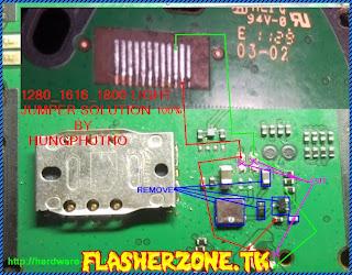 Nokia 1280 nokai 103 lcd light jumper diagram hardware problem solution