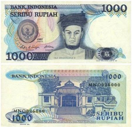 Uang Kertas 1.000 Rupiah 1987
