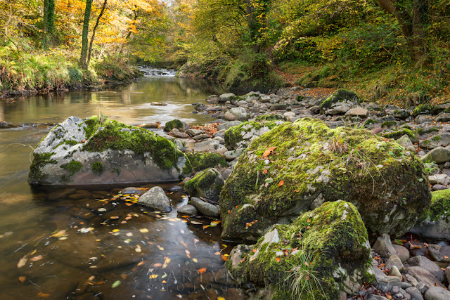 Large boulders in the Afon Mellte in the Vale of Neath by Martyn Ferry Photography