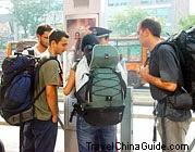 Travelers in Xian