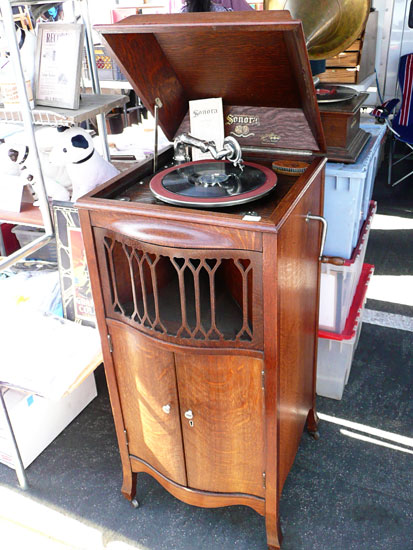 Rose Bowl flea market vintage phonograph by Lady by Choice