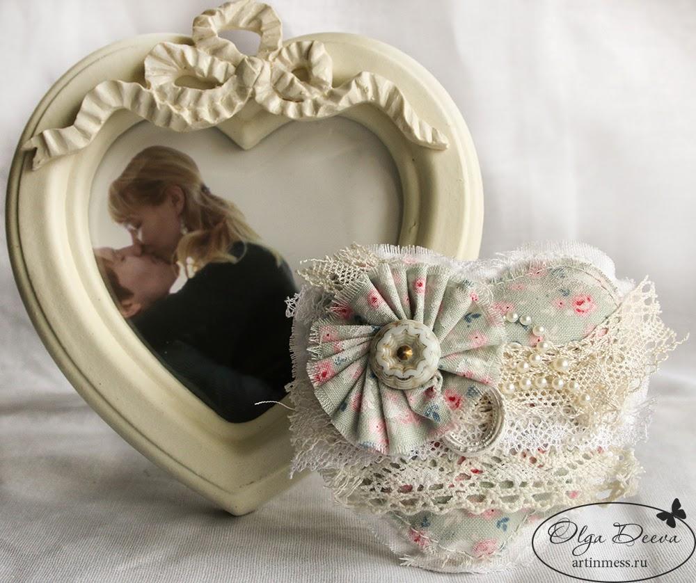 Shabby chic heart / Сердце в стиле шебби шик