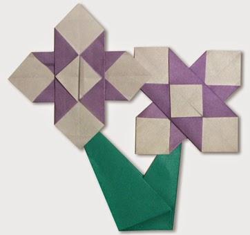Hướng dẫn cách gấp bông hoa diên vĩ bằng giấy đơn giản - Xếp hình Origami với Video clip - How to make a iris