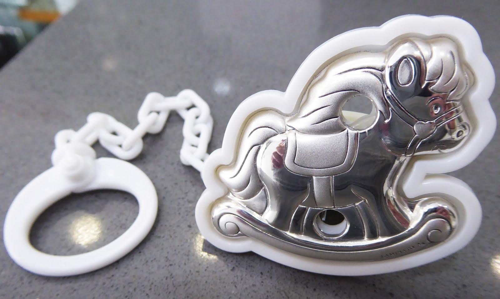 Pinza Chupete de plata