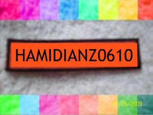 Nametag Orange !