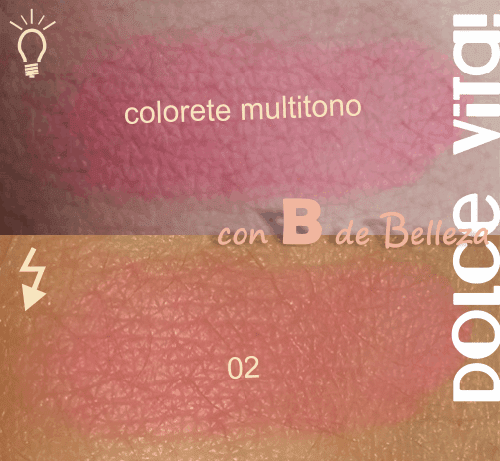 Swatches colorete Dolce vita