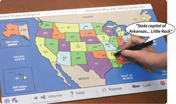 US Map with Talking Interactive Pen