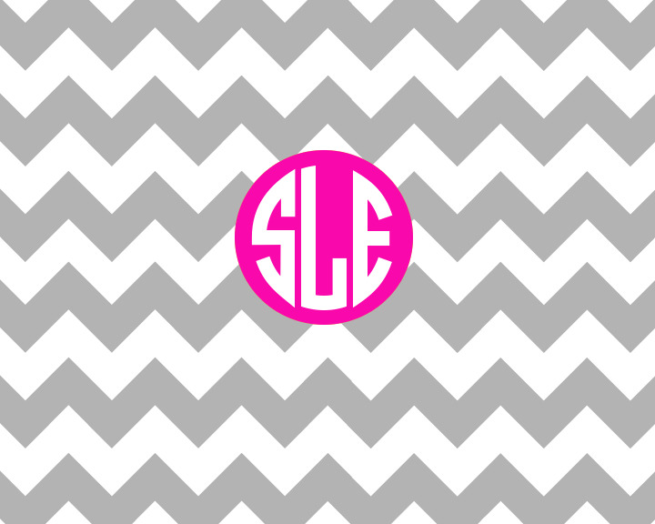 Free iPhone/iPad Background Chevron Background With Monogram