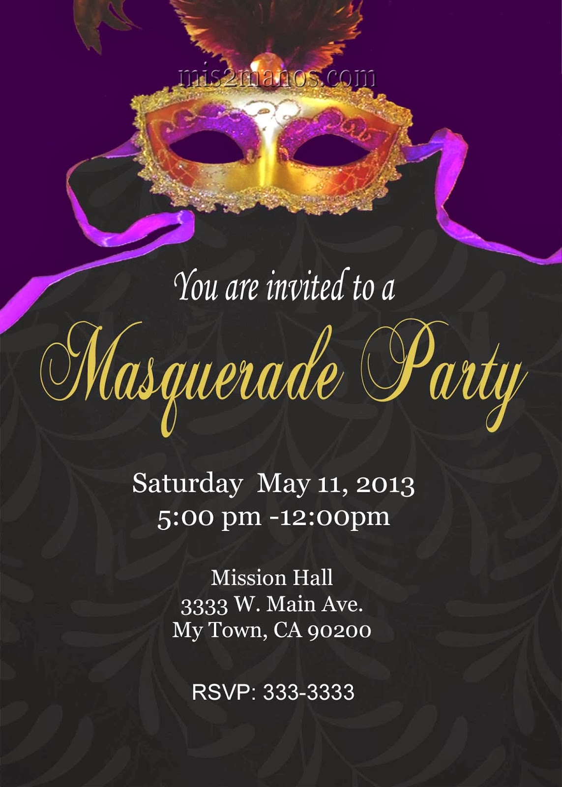 Mis 2 Manos: Made by My Hands: Masquerade Party Mardi Gras ...